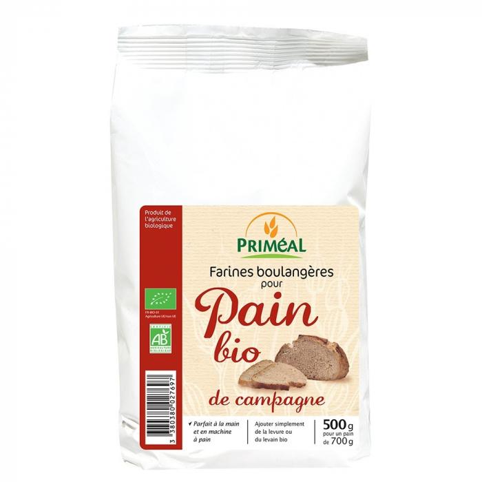Amestec organic pentru paine de tara 500g [0]
