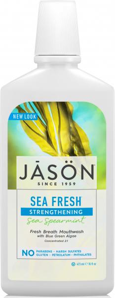 Apa de gura Sea Fresh cu sare de mare si minerale pt detoxifierea si intarirea dintilor, Jason 0