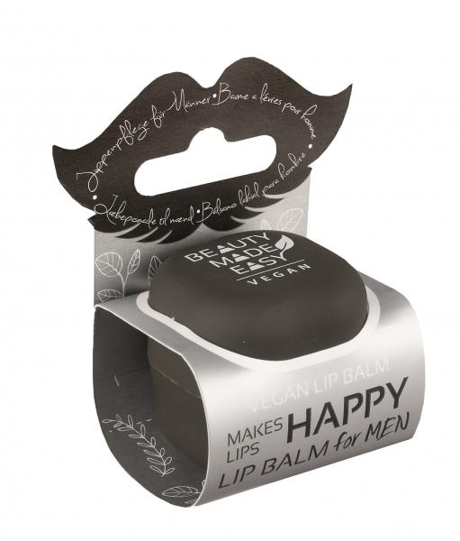 Balsam de buze cu menta si aloe vera pentru barbati, Beauty Made Easy, 6.8 g [0]