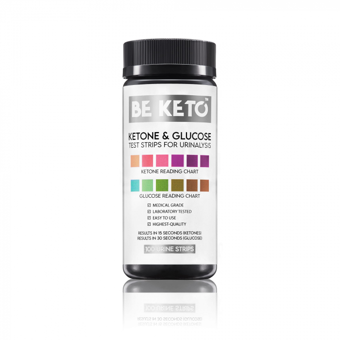 Benzi de testare glucoza si cetoza 2 in 1- 100 buc BeKeto [0]