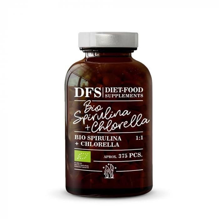 Bio Spirulina + Chlorella - 375 tablete x 400mg - 150g 0