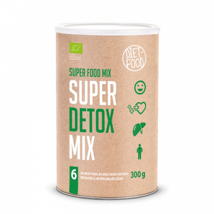 Bio Super Detox Mix pulbere bio 300g 0