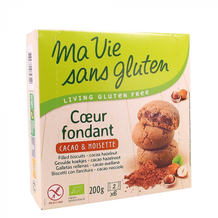 Biscuiti fara gluten cu crema de cacao si alune 200g [0]