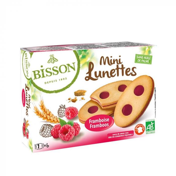 Biscuiti Mini Ochelari cu zmeura 175g [0]