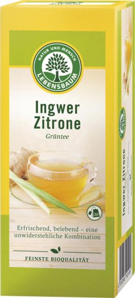 Ceai verde cu ghimbir si lamaie x20 plicuri 40 g [0]