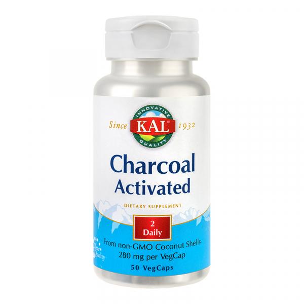 Charcoal Activated (Carbune medicinal) 50 capsule SECOM 0