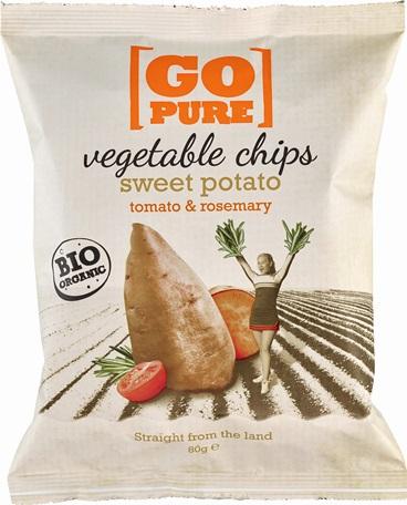 Chipsuri din cartofi dulce si rosii cu rosmarin 80 g 0