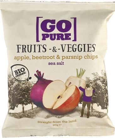 Chipsuri din fructe si legume cu sare de mare FARA GLUTEN 90 g [0]