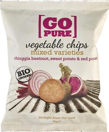 Chipsuri din sfecla Chioggia pastarnac si cartofi dulci 90g 0