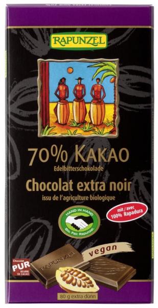 Ciocolata bio amaruie 70% cacao HIH 80g 0