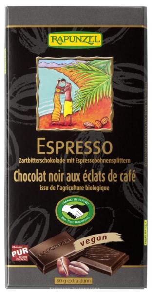 Ciocolata amaruie cu Espresso 55 cacao VEGANA 80 g 0