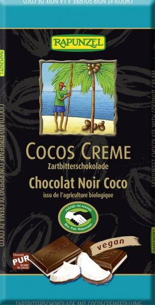 Ciocolata amaruie cu umplutura de crema de cocos VEGANA 100 g [0]
