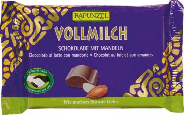 Ciocolata bio lapte integral Cristallino cu migdale intregi HIH 100g [0]