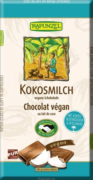 Ciocolata cu lapte de cocos  80 g 0