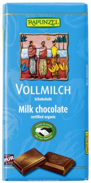 Ciocolata bio lapte integral HIH 100g 0
