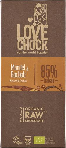 Ciocolata RAW VEGANA cu migdale si baobab 70g [0]