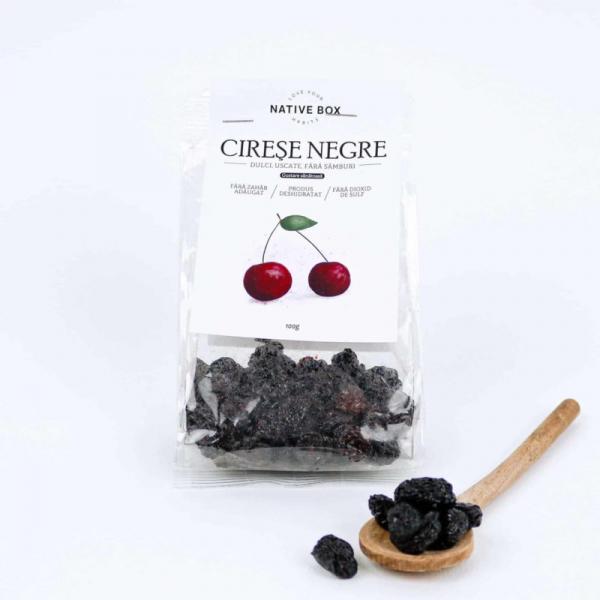 Cirese negre dulci uscate fara samburi 100gr 0