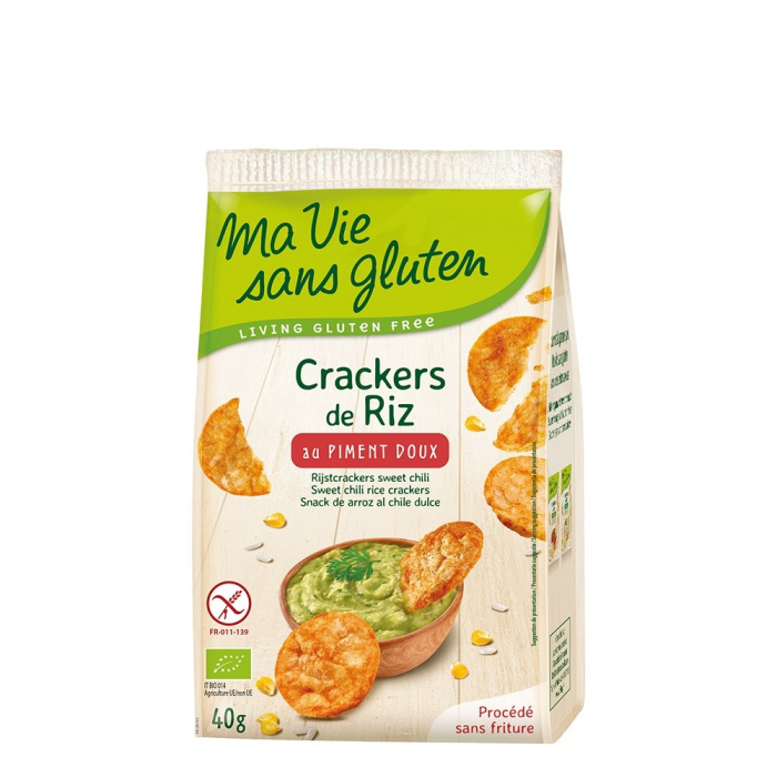 Crackers din orez cu ardei dulce- fara gluten 40g 0