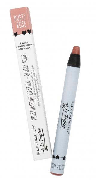 Creion - ruj hidratant GLOSSY NUDE-DUSTY ROSE, zero plastic, Beauty Made Easy, 6 g [0]