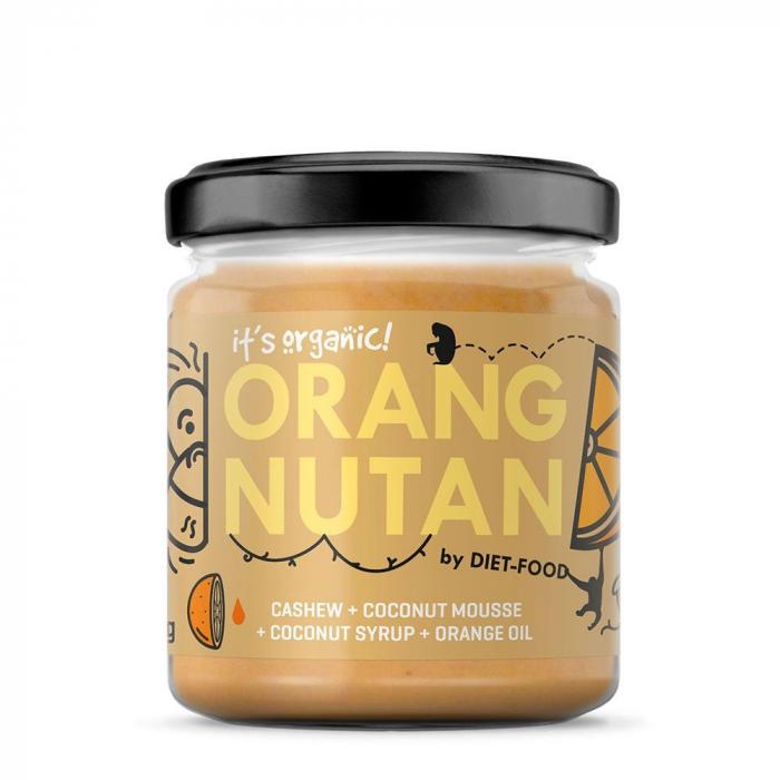 Crema de caju cu portocale ORANGNUTAN 200g 0