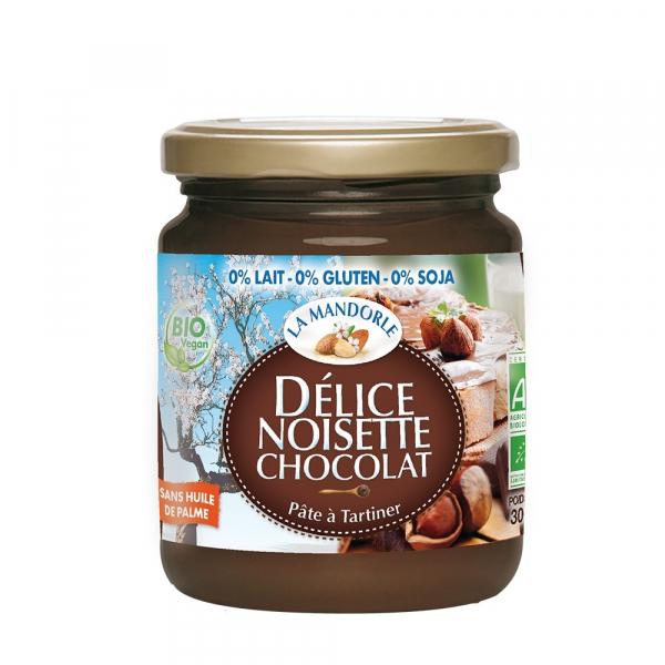Crema de ciocolata si alune fara gluten, lactoza, soia 300g, La Mandorle 0
