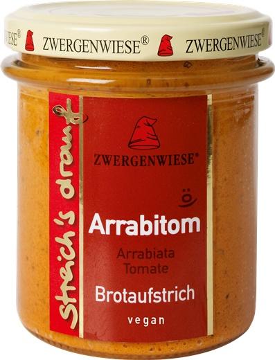 Crema tartinabila vegetala Arrabitom cu arrabiata si tomate FARA GLUTEN 160 g 0