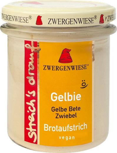 Crema tartinabila vegetala Gelbie cu sfecla galbena si ceapa 160 g 0