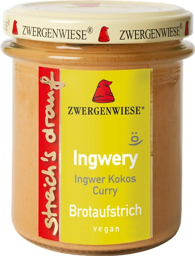 Crema tartinabila vegetala Ingwery cu ghimbir cocos si curry FARA GLUTEN 160 g 0