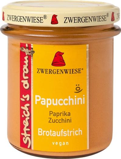Crema tartinabila vegetala Papucchini cu ardei si zucchini FARA GLUTEN 160 g 0