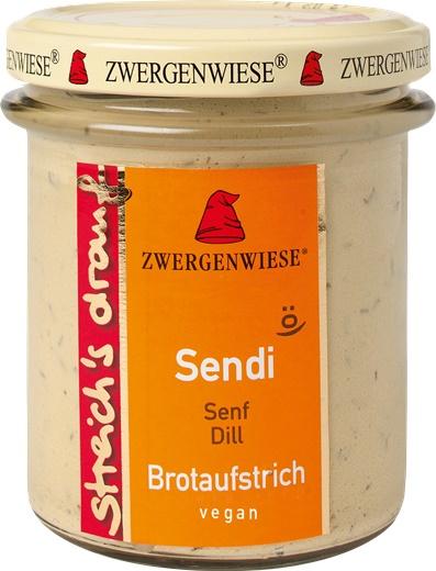 Crema tartinabila vegetala Sendi cu mustar si marar FARA GLUTEN 160g [0]