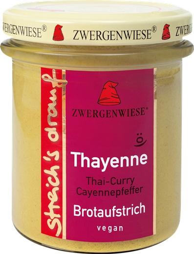 Crema tartinabila vegetala Thayenne cu Thai curry si piper de cayenne 160 g 0