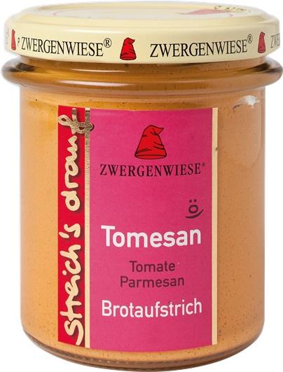 Crema tartinabila vegetala Tomesan cu tomate si parmezan 160g 0