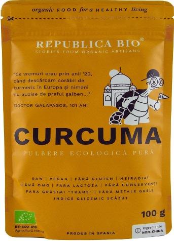 Curcuma pulbere pura 100 g 0