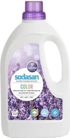 Detergent lichid pentru rufe colorate cu lavanda 1.5 l 0