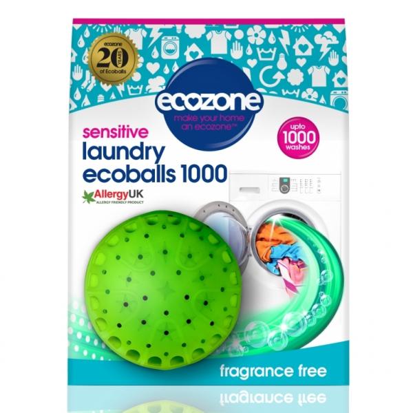 Ecoballs - Bila eco pt. spalarea rufelor, fara miros, 1000 spalari, Ecozone 0