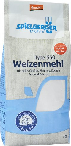 Faina de grau alba TIP 550 Demeter 1 kg 0