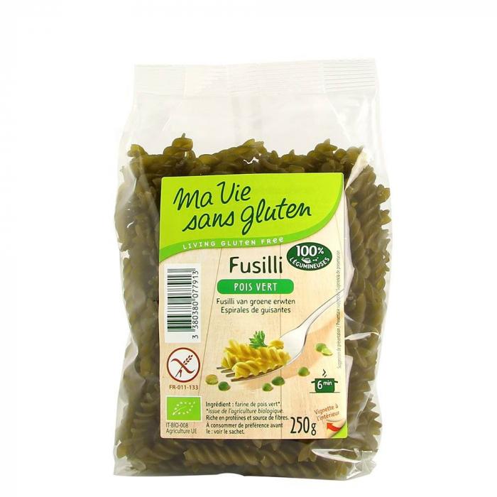 Fusilli bio mazare verde - fara gluten 250g [0]