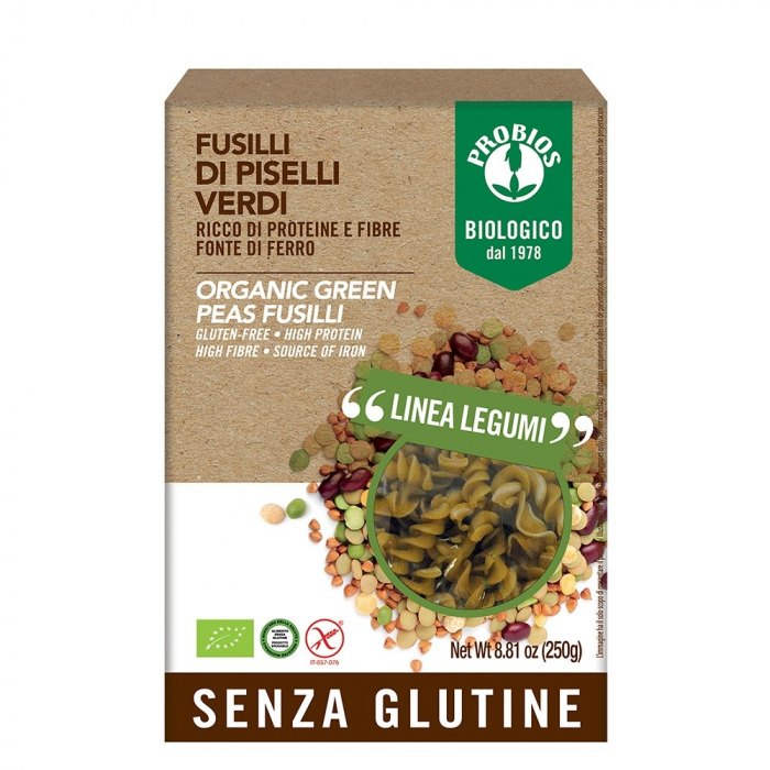 Fusilli din mazare verde- fara gluten 250g [0]