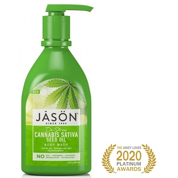 Gel de dus hipoalergenic, relaxant cu ulei din seminte de Cannabis, Jason, 887 ml 0