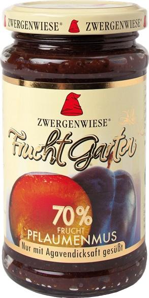 Gem de prune indulcit cu nectar de agave FARA ZAHAR 225 g 0
