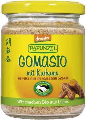 Gomasio DEMETER cu curcuma  100 g 0