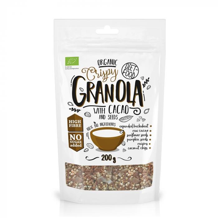 Granola bio cu cacao 200g 0
