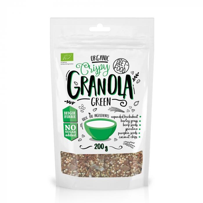 Granola bio cu green mix 200g [0]