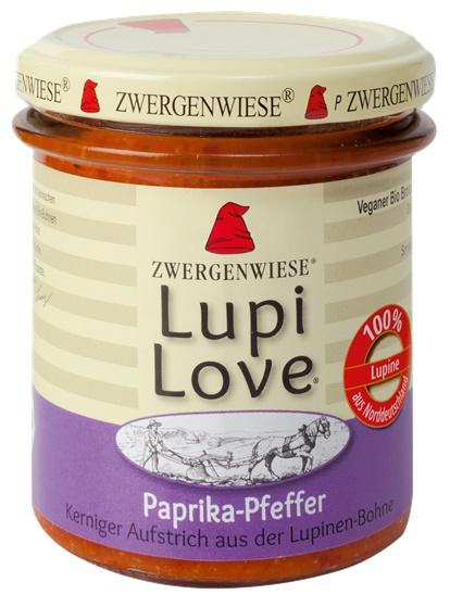 Lupi Love crema tartinabila din lupin cu ardei si piper FARA GLUTEN 165 g 0