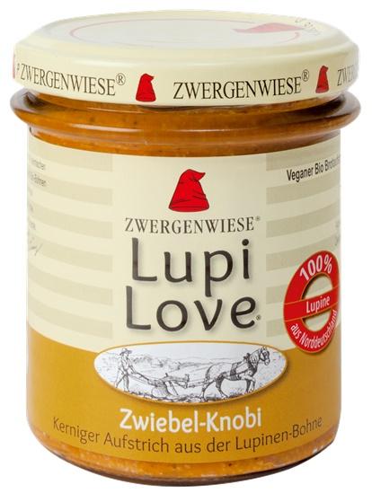 Lupi Love crema tartinabila din lupin cu ceapa si usturoi 165g 0