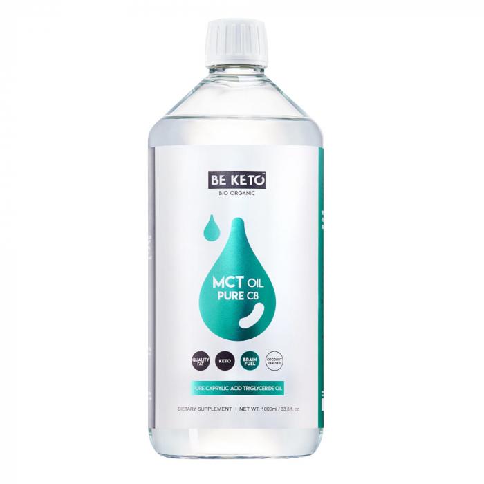 Ulei de cocos MCT C8 pur 100% Acid Caprilic 1000 ml Be Keto [0]