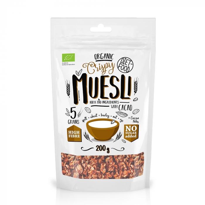 Musli bio cu cacao nibs 200g [0]