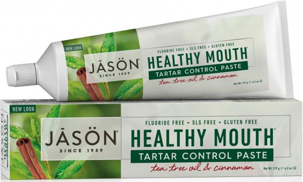 Pasta de dinti anti-placa si tartru, Healthy Mouth, pt. gingii iritate, Jason, 119 g 0