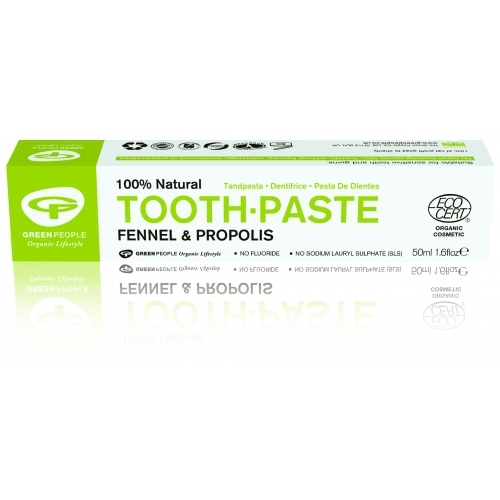 Pasta de dinti cu fenicul organic si propolis, homeopata, Green People 0