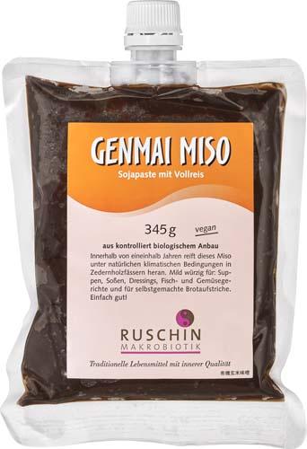 Pasta din soia si orez Genmai Miso nepasteurizata 345 g 0